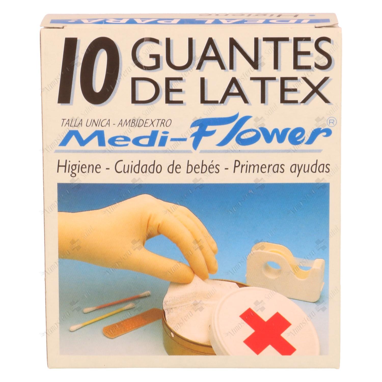 GUANTES LATEX MEDI FLOWER T/P 10 UI- 142022 -