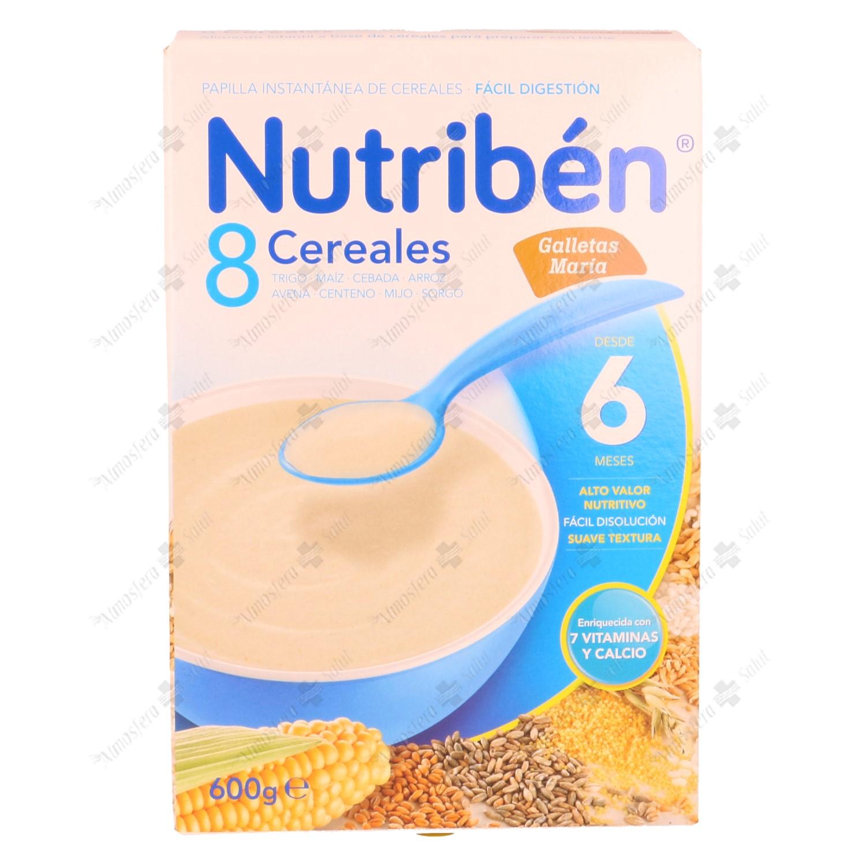 NUTRIBEN 8 CEREALES GALLETAS MARIA 2X300G 600 G