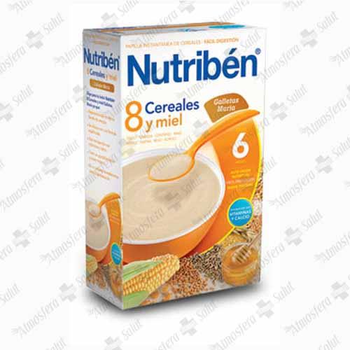 NUTRIBEN 8 CEREALES MIEL GALLETAS MARIA 600 G