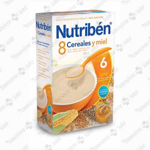 NUTRIBEN PAPILLA 8 CEREALES Y MIEL 2X300 600 G
