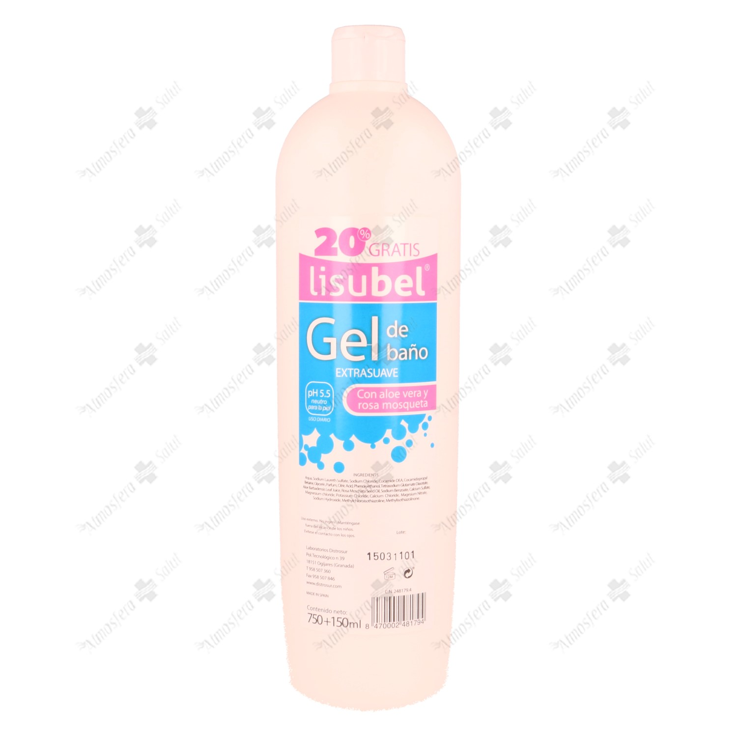 GEL BAÑO EXTRASUAVE LISUBEL 900 ML- 248179 -  DISTROSUR