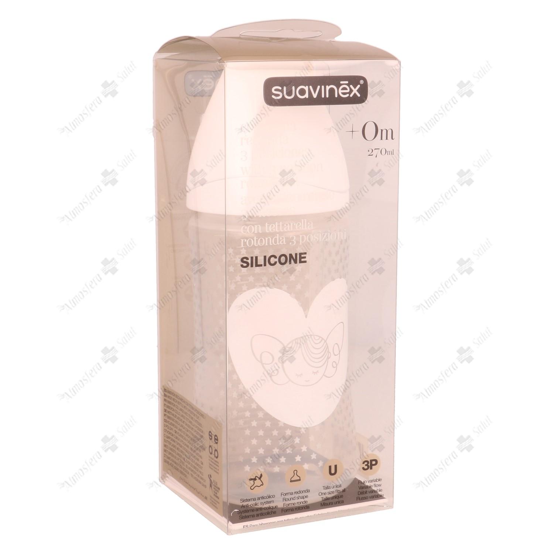 SUAVINEX BEBERON WHITE 270 TET. 3 POSC. SILICONA- 303652 -
