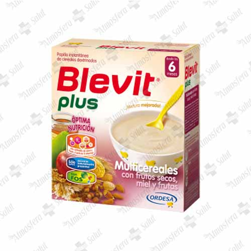 BLEVIT PLUS MU MIEL FR SEC Y FRUT.2X300G 600 G